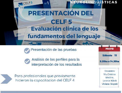 Presentación del Celf5