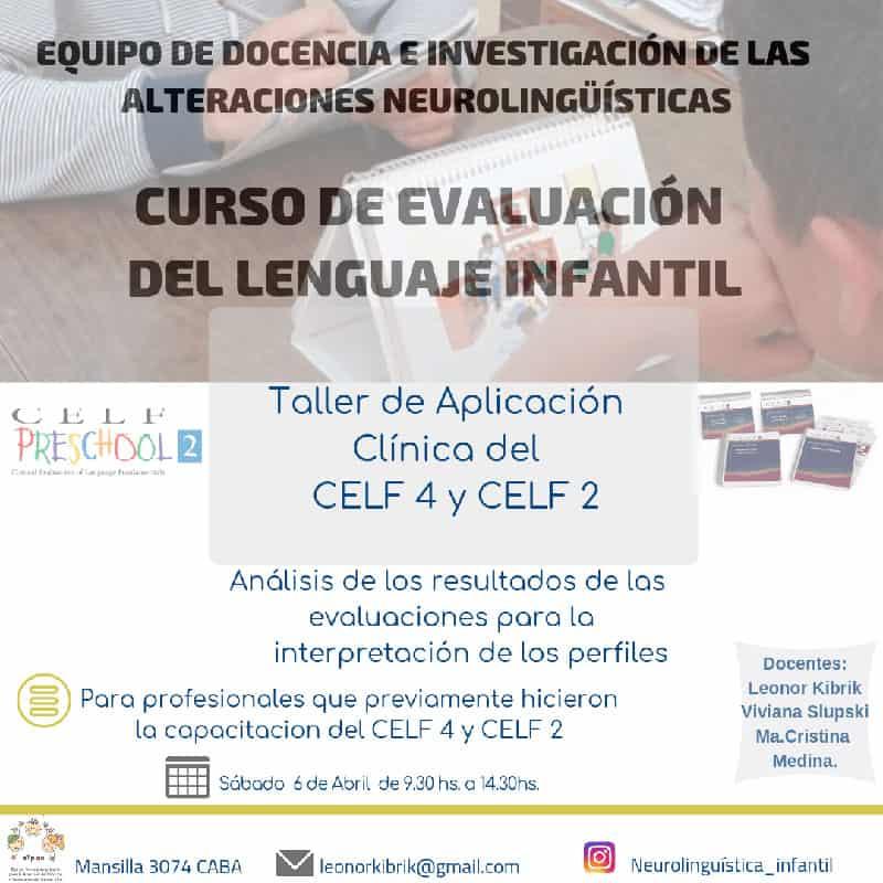 Curso de Evaluación del Lenguaje Infantil