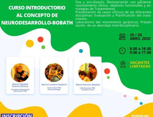 Curso Introductorio al Concepto de Neurodesarrollo-Bobath 2020